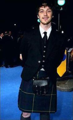 James McAvoy in a kilt!