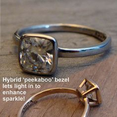 I also love this ring for all the same reasons as my other recent pin- eco friendly (recycled gold, no conflict diamon) and it would match my other rings. love. it would also go with the finger print wedding band I want.