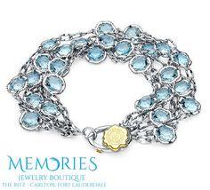 Something Blue for your wedding day, Blue Topaz Bracelet by #Tacori. #MemoriesjewelryBoutique #FortLauderdale #Beach #RitzCarlton #Blue #Topaz #Bracelet #SomethingBlue #Wedding #Summer #Fashion #Style #Trend #Memories