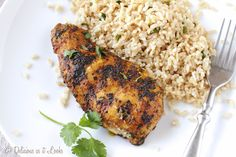Grilled Moroccan Chicken and Brown Rice {Low-FODMAP}  /  Delicious as it Looks