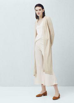 Lang vest - Vesten en truien voor Dames | MANGO Nederland
