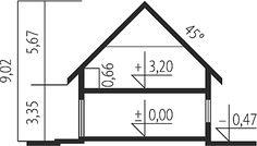Projekt domu Economic wersja A - Modern Bungalow Exterior, Modern Bungalow House, Small Modern House Plans, Mocca, Home Design Plans, Planer, Floor Plans, House Design, How To Plan