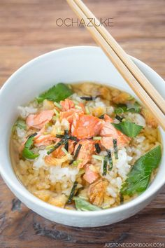 Ochazuke (Green Tea Over Rice) | Easy Japanese Recipe at