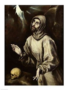 St. Francis of Assisi Receiving the Stigmata Art Poster PRINT El Greco