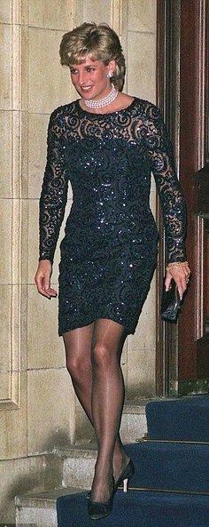 "Princess Diana -- Catherine Walker lace -- Royal Albert Hall ""La Boheme  Feb 1 1996  /  June 2, 1995 - Pavorotti concert in Cardiff, Wales  /  Theater Society Gala  5 Nov 1993"