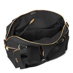 Camryn Laptop Handbag,Black Crosshatch,large