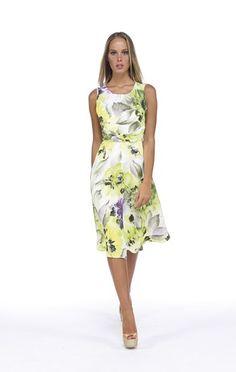Michaela Louisa 8034 Pastel Print Dress | Occasion Wear ...