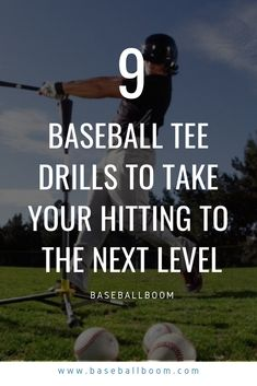 Hitting is about timing and body mechanics. The faster players react and move the harder they can hit the ball with power and accuracy. Here weve compiled 9 batting drills that help take your hitting to the next level. Baseball Tips, Baseball Quotes, Baseball Mom, Baseball Players, Baseball Stuff, Baseball Snacks, Travel Baseball, Baseball Party, Football