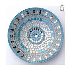 Mozaiek schaal Sprite zilver-blauw. Compleet mozaïekpakket voor beginners en gevorderden. Geen gereedschap nodig!