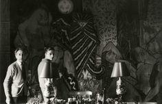 Jean Cocteau and Doris Brynner at Francine Weisweiller's Villa Santo Sospir 1959
