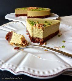 Cheesecake al pistacchio con agar agar