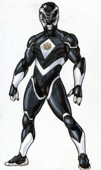 Black Ranger Redux by DavidFernandezArt
