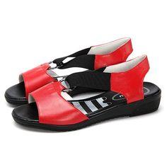 Cuero con banda elástica de suela cómoda blanda planas casuales sandalias  es barato en NewChic Cuero con banda elástica de suela cómoda blanda planas  ... e840af36e2f4