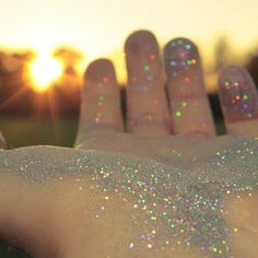 Wonder and curiosity. Love me some glitter. I'm like a magpie, i see something shiny or glitter, I'm distracted.