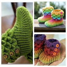 Crocodile Stitch Boots Trio