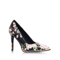 Cherry Blossom print beauty black floral high heel court shoes from KG Kurt Geiger Kurt Geiger Shoes, Floral High Heels, Court Heels, John Lewis, Designer Shoes, Kitten Heels, Footwear, Pumps, My Style