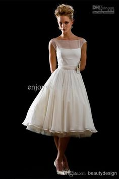 Wholesale Bridesmaid Dresses - Buy Custom Made Layered Chiffon A Line Bridesmaid Dresses Tea Length Bateau Cap Sleeves Wedding Gowns Short Prom Girls' Party Dresses BO3937, $89.5 | DHgate