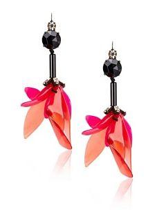 MARNI Women's Raspberry Dangling Fish-Hook Earrings