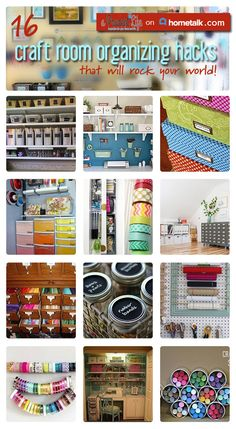 Here are 16 great hacks to keep your crafts room nice and neat!