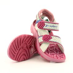 Pink sandals children's shoes for water Rider 80608 shades of pink Swimming Sport, Pink Sandals, Comfortable Heels, Childrens Shoes, Blue Accents, Velcro Straps, Sports Shoes, Baby Shoes, Vogue