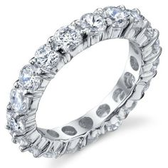 3.50MM Sterling Silver 925 Eternity Ring Engagement Wedding Band Ring with Cubic Zirconia CZ Sizes 4 to 10 Metal Masters Co.. $29.99. Comes with a FREE Ring Box!!. 30-Day Money Back Guarantee. Crafted of Solid Sterling Silver .925. Grade AAAAA Quality Cubic Zirconia
