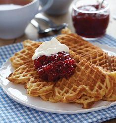 Norwegian traditional food – Our very best recipes Norwegian Waffles, Norwegian Food, Waffle Recipes, Cake Recipes, Pancake Party, Vegetarian Desserts, Danish Food, Baking And Pastry, Baking Breads