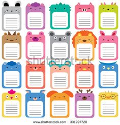 Illustration about 20 animals text box, text frames set. Illustration of bunny, clipart, blank 61390069 Journal Stickers, Journal Cards, Planner Stickers, School Name Labels, Binder Labels, Text Frame, School Frame, Clip Art, Borders For Paper