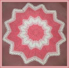 Sunshine Round Ripple Baby Afghan Pattern by Monica ~Note to self...This is like the pattern Mom made for doileys, Need to try~