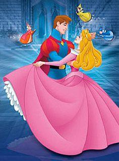 Princess Aurora dancing with her prince charming... need I say more?
