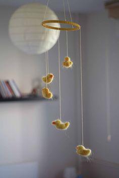 Duck Nursery, Baby Nursery Decor, Zeina, Felt Mobile, Baby Sewing Projects, Felt Baby, Baby Boy Rooms, Felt Animals, My New Room