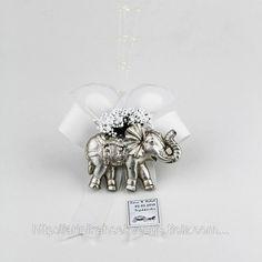 Nikah Şekeri Fil Model Gümüş Beyaz, resim 1