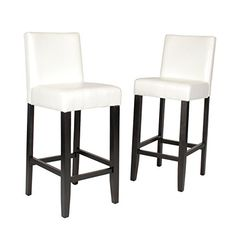 Special Offers - Citylight Bar Height Barstools Set of 2 Ivory - In stock & Free Shipping. You can save more money! Check It (May 29 2016 at 10:53PM) >> http://sectionalsofasxl.net/citylight-bar-height-barstools-set-of-2-ivory/