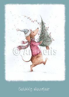 Nieuwjaarsbrief An Melis Christmas Books, Christmas And New Year, Kids Christmas, Xmas, Illustration Noel, Illustrations, Ikko, Christmas Decorations, Artsy