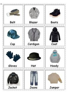 Boys & Girls Clothing Cards- Autism & Special Needs. The cards can be used flash cards for matching activities while learning boys and girls clothing. It is also good for spelling and reading activities for small children as well as for kids with autism and special needs.