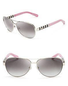 kate spade new york Dalia Aviator Sunglasses, 58mm
