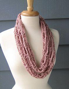 S034 Ladder Necklace Infinity - free crochet scarf pattern by Sally Blickenstaff