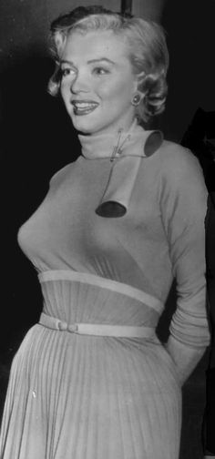 """Marilyn on the set of """"Monkey Business"""", 1952."""