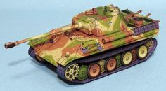 PAPERMAU: WW2`s German Tank Panther Ausf. G Paper Model - by Lazy Life