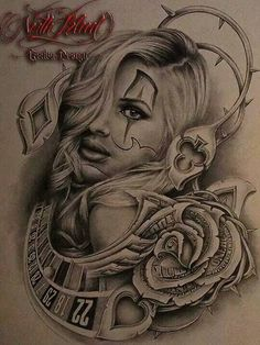 Piece of arte art chicano, chicano love, cholo art, tattoo chicana, skull Gangsta Tattoos, Chicano Tattoos, Tattoo Chicana, Chicano Drawings, Kunst Tattoos, Body Art Tattoos, Tattoo Drawings, Pencil Drawings, Art Drawings