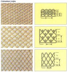 irish crochet net - graph and video