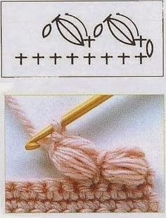 Crochet Edging Pattern - link corrupt but pin shows everything Crochet Stitch Pattern Link has many patterns in various languages but lots have diagrams. Discover thousands of images about Crochet Stitch Pattern. finally I've found it) Crochet Stitch Patt Crochet Borders, Crochet Diagram, Crochet Stitches Patterns, Crochet Chart, Crochet Motif, Stitch Patterns, Crochet Edgings, Puff Stitch Crochet, Points Crochet