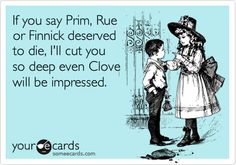 hahaha. I doubt I could cut someone with a knife though. I can hardly stick the straw in a Capri Sun.