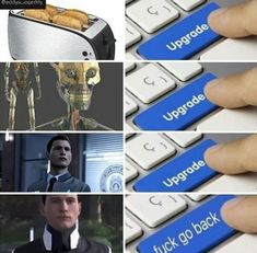 Detroit: become human ⚪ pictures Detroit Being Human, Detroit Become Human Connor, Luther, Detroit Meme, Bryan Dechart, Human Pictures, Becoming Human, I Like Dogs, Geek Games