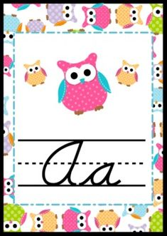Owl-Themed CURSIVE Alphabet Posters - $2