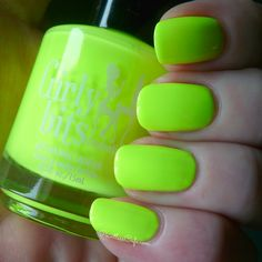 Girly Bits - These Hips Don't Lie (neon Yellow) Full Collection  Swatches and Review on Pointless Cafe