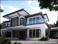 What do you think about House Front Design? It's interested and make you have an idea to design your room? Two Story House Design, Village House Design, House Front Design, Modern House Design, Modern Bungalow House, Modern Mansion, Modern House Plans, Style At Home, Modern Architecture House