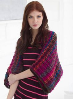 Arizona Sunset Shrug | AllFreeCrochet.com- great to keep the chill off your shoulders--and stylish too.