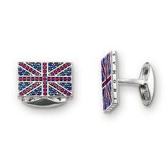 Gemelos Union Jack de la colección Rebel at heart en la tienda online de THOMAS SABO