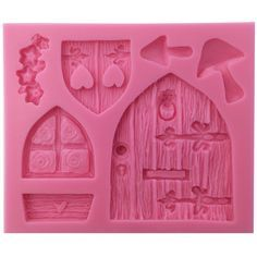 Funshowcase Enchanted Vintage Fairy Garden Fairy or Gnome Home Door Silicone Mold, for Cake Decorating, Crafting, Polymer Clay, Resin: Kitchen & Dining Clay Projects, Clay Crafts, Gnome House, Gnome Door, Fairy Crafts, Vintage Fairies, Fairy Doors, Fairy Land, Fairy Houses