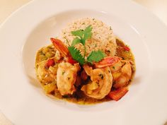 Curry coconut milk shrimp